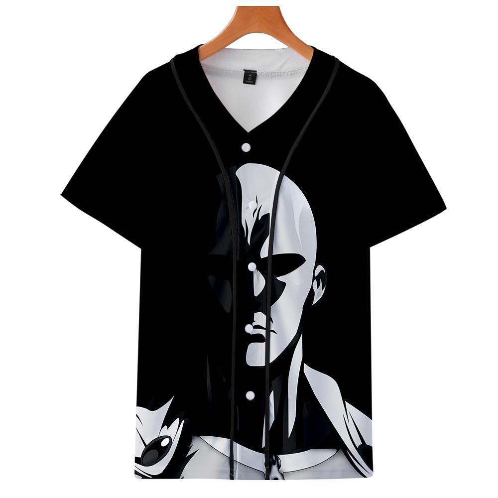 One Punch Man Season 2 Impresión en 3D Camisetas de béisbol Mujer / Hombre Moda Verano Camiseta de manga corta 2019 Ropa casual de streetwear