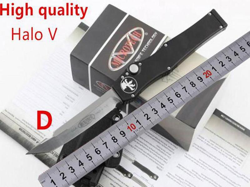 """Alta qualidade Microtech preto clássico de Halo V UT85 Tanto lâmina de faca (4.6"""" Cetim) 150-4 única ação auto facas engrenagem tática faca de sobrevivência"""