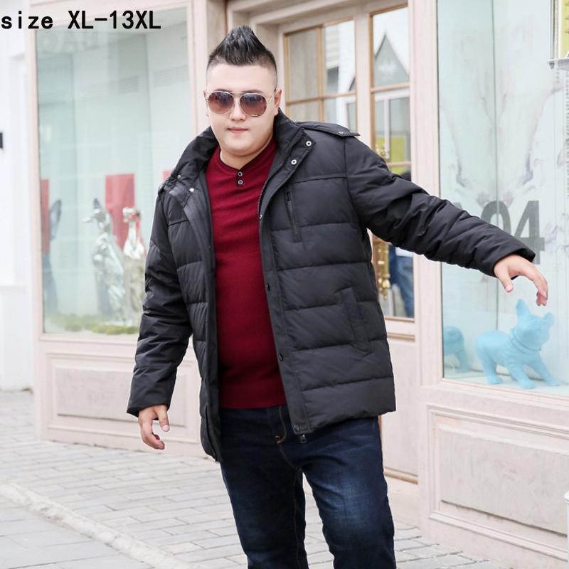 nouvelle arrivée de haute qualité de la mode super grand 11XL 12XL 13XL chaud Casual épais avec capuche en vrac braguette veste manteau hommes