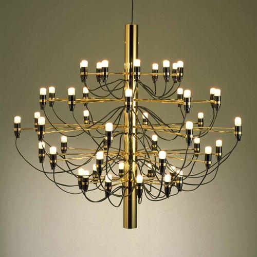 Gino Sarfatti Design Leuchter-Beleuchtung Wohnzimmer Schlafzimmer Treppe Leuchter-Schwarz-Rose Gold Zweig Drahtleuchter-Lampe