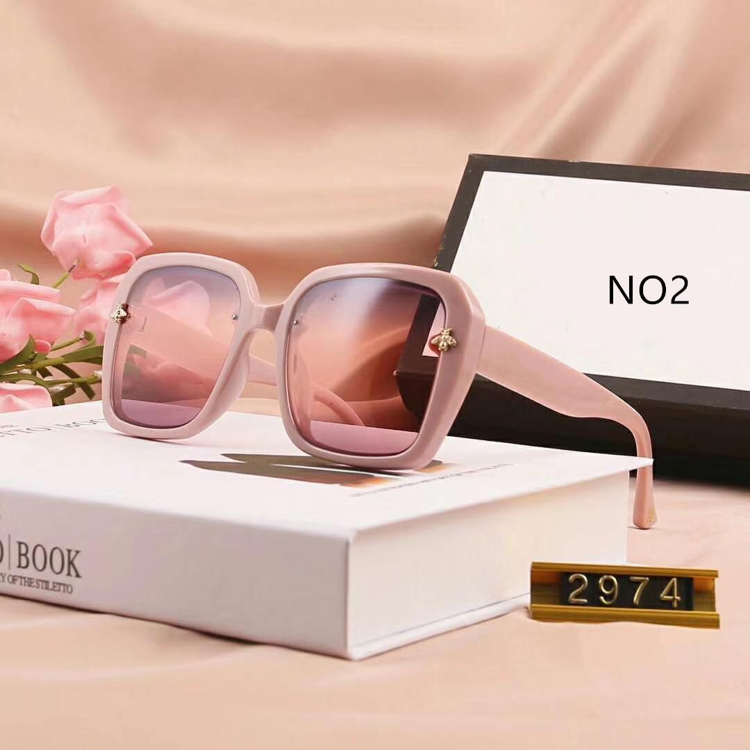 الصيف النحلة الصغير النظارات الشمسية موضة النظارات الشمسية حملق نظارات ستايل 2974 UV400 5 خيارات اللون ذات جودة عالية مع صندوق