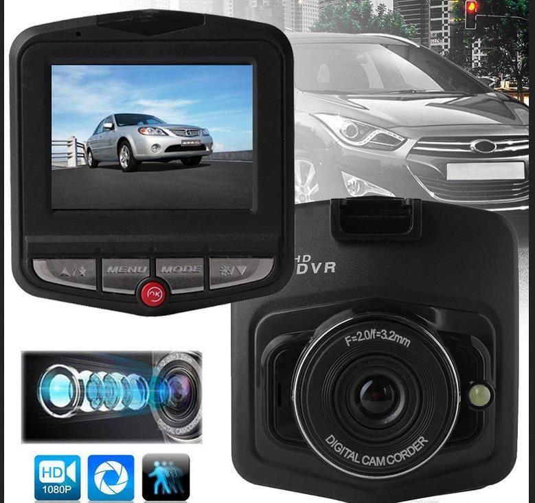 """2.4 """"سيارة ميني DVR كاميرا Dashcam HD1080P كاملة GT300 فيديو مسجل G الاستشعار ليلة الرؤية كاميرا 2020 DHL"""