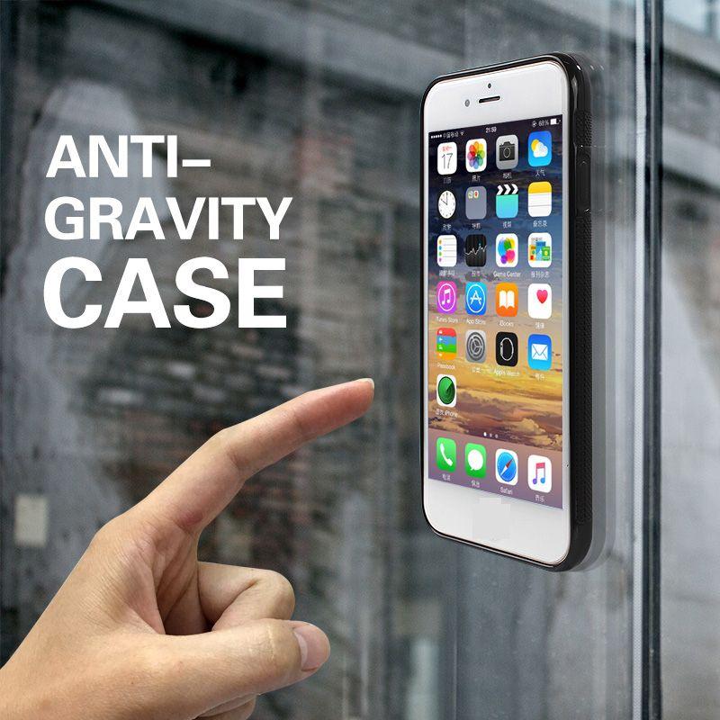 Cas de téléphone Anti Gravity cas pour iPhone11 XR 7 8 plus pour Samsung Antigravity TPU cadre magique Nano aspiration Couverture adsorbées Case
