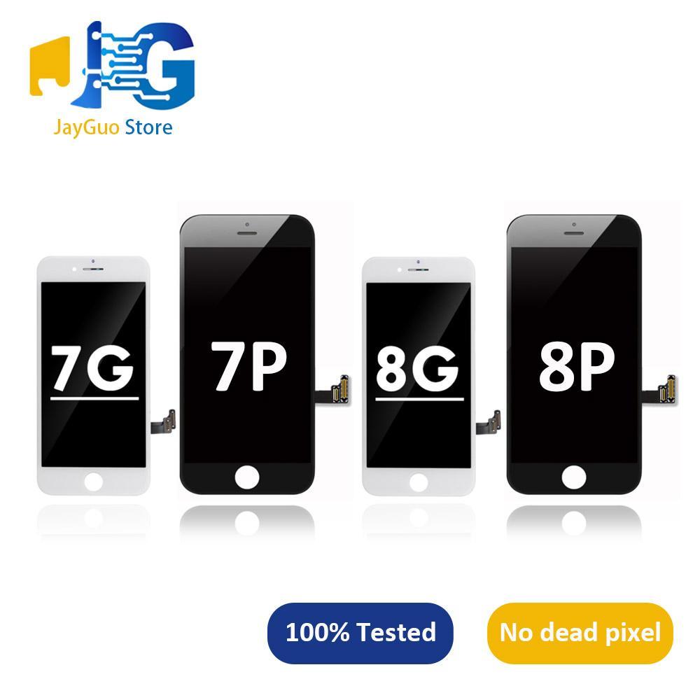 """10шт для iPhone 7 7plus 8 8plus ЖК-дисплей модуль 3D сенсорный дигитайзер Ассамблеи Замена 4,7"""" ЖК-экран телефона"""