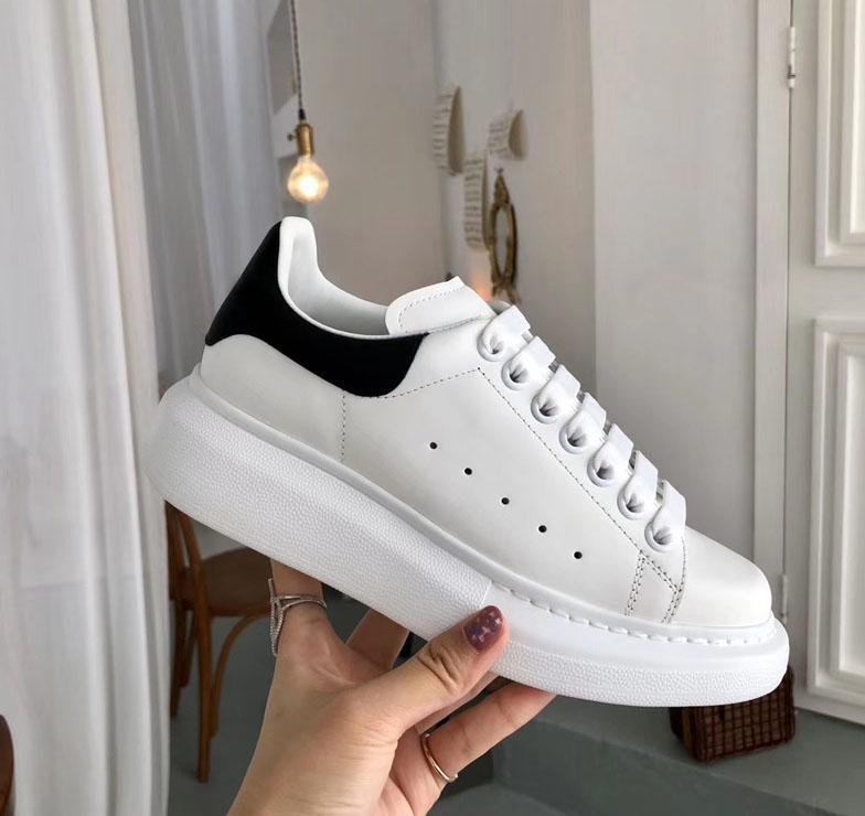 Qualitäts-Mann-Frauen-beiläufige Schuh-Turnschuh-Plattform-weißes Leder-Wildleder-Schuh-Partei-Trainer Hochzeit Turnschuhe Chaussures