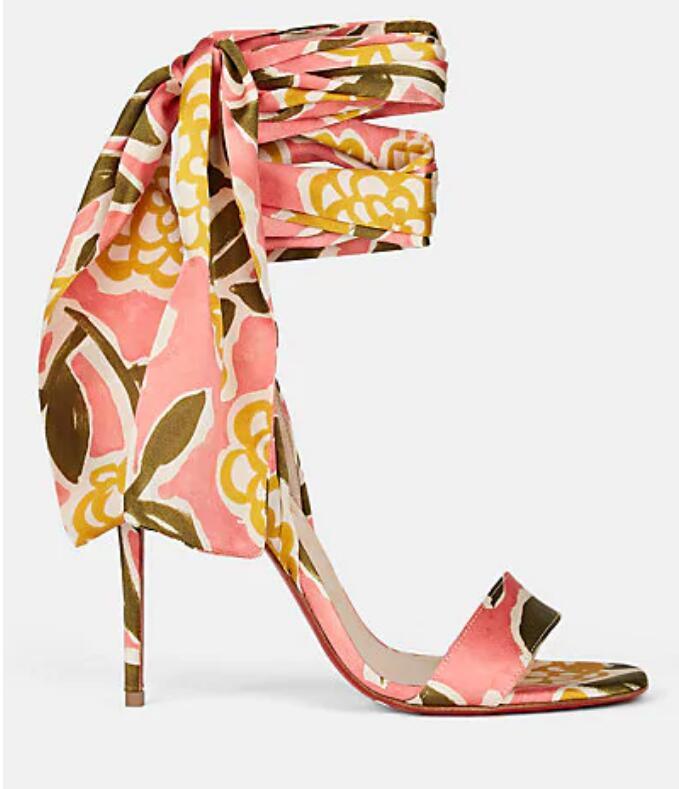 Sandals luxuious Marca parte inferior vermelha das mulheres de Hot Sale-Verão Sandália Spetsos Satin Ankle-Wrap Sandals Lady Partido do vestido de casamento Shoes Atacado