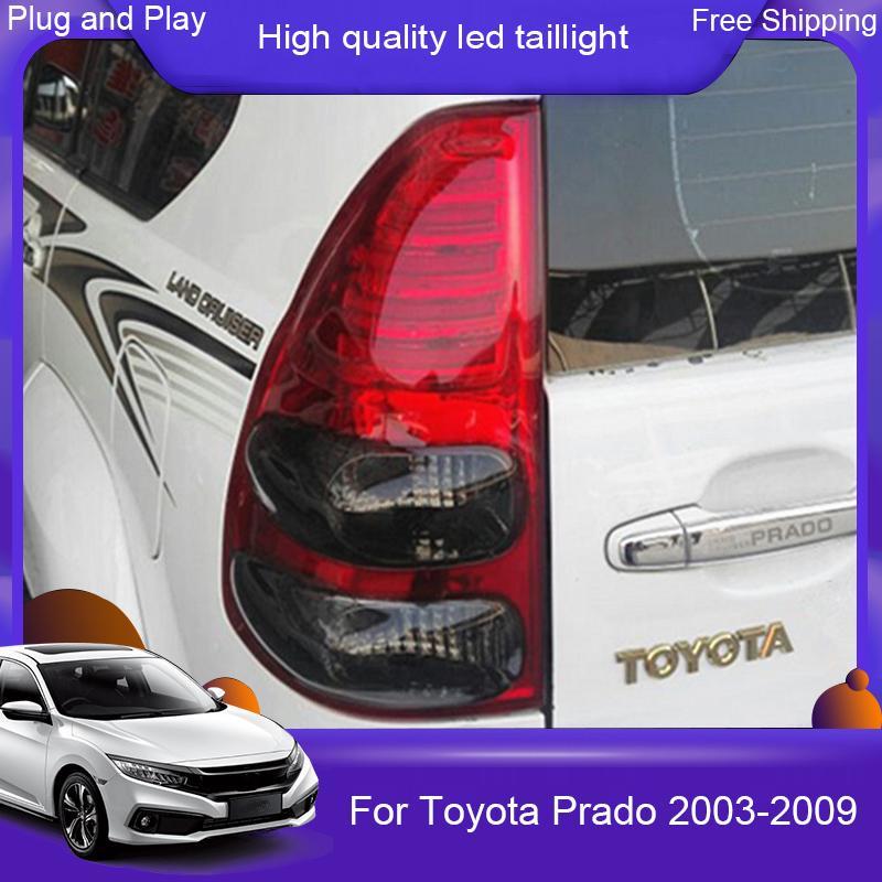Toyota Prado FJ120 LAND CRUISER lc120 LED arka lambası 03-09 araba taillamp Rearlight DRL + Fren + Park + Sinyal için araba tasarım ışık led