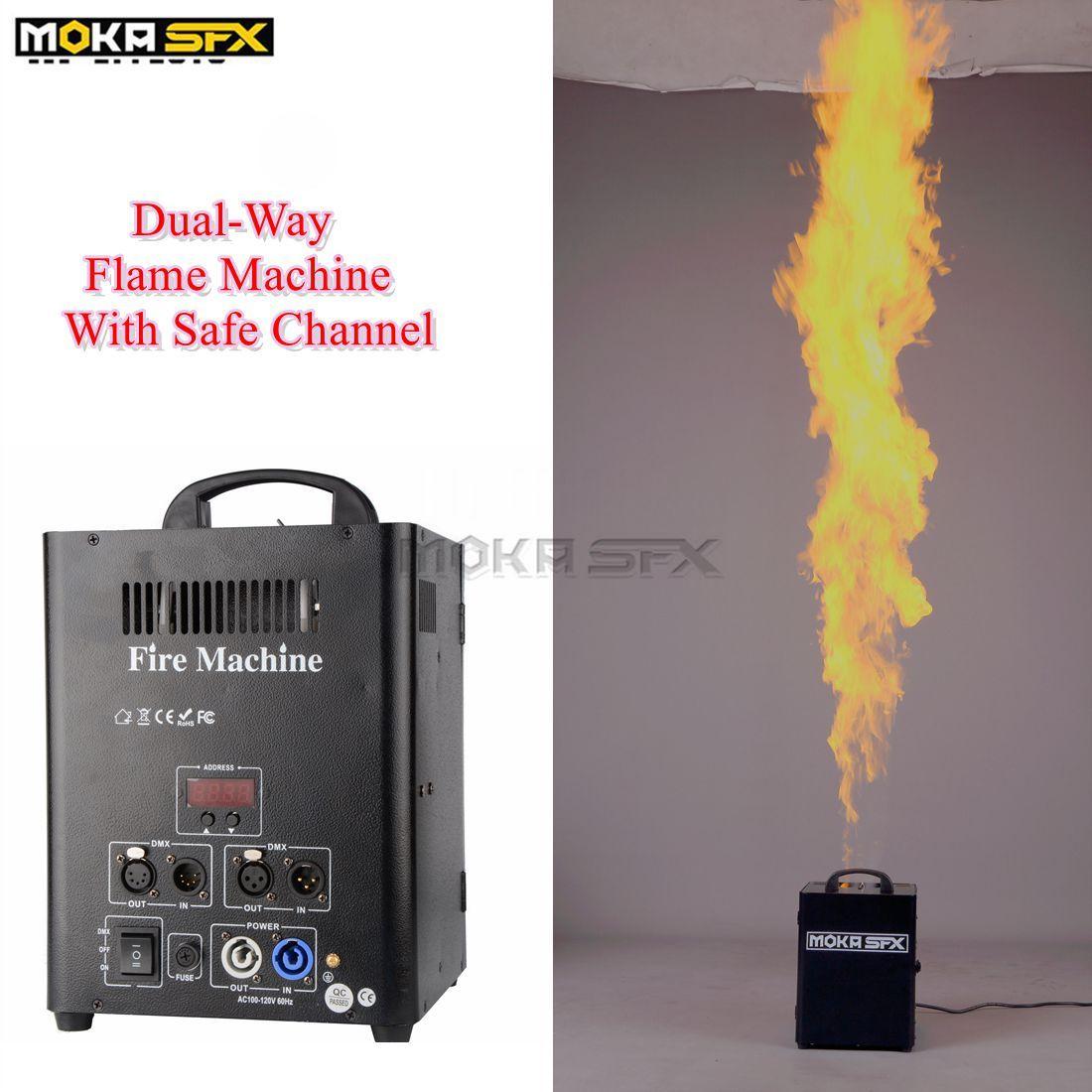 200W DMX 512 Étape Fire Machine Flamme Projecteur Feu Spray Machine Équipement Equipement Equipement Livraison Gratuite Moka