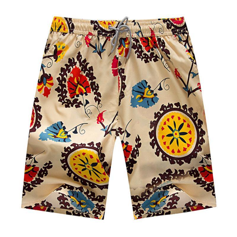 além de calças curtas de algodão verão praia calça esporte ao ar livre ocasional impressão homens tamanho acabando calça moda cordão Shorts