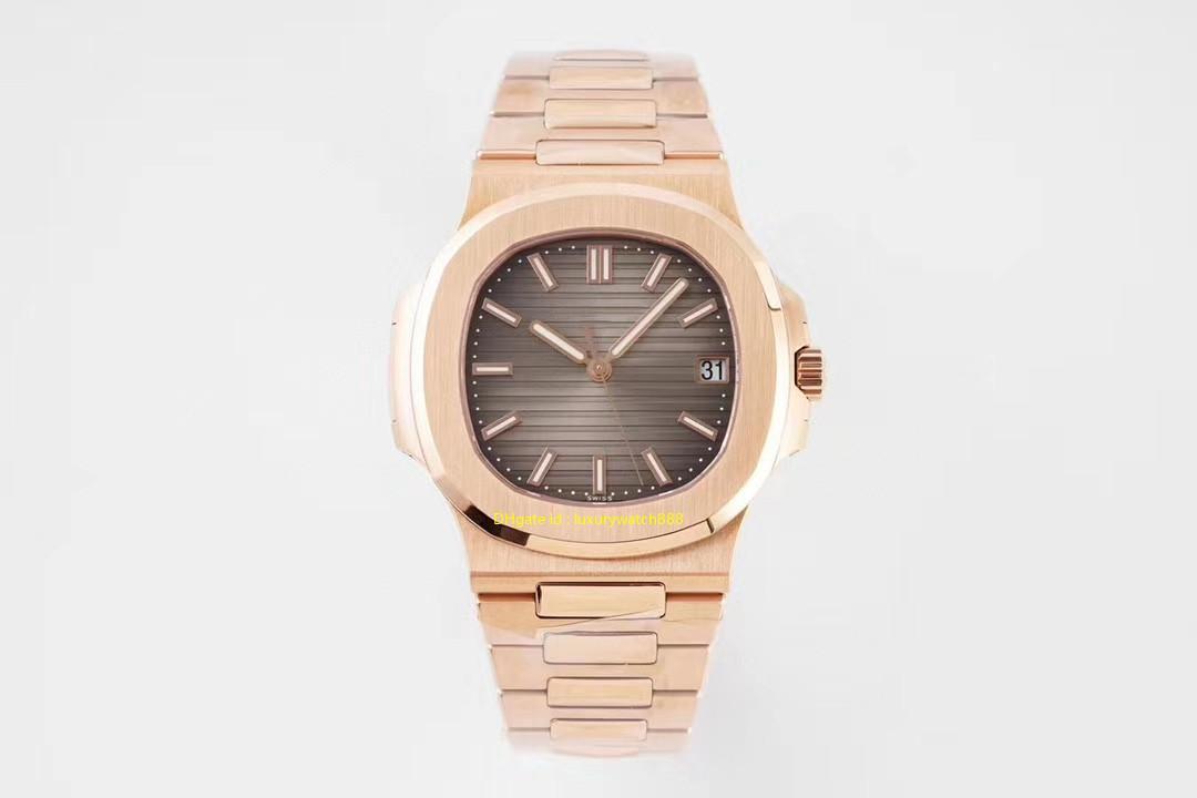 5711 Rose Mens relógio de ouro PPF V4 Integrado 324SC Top Quality Automatic Relógio de pulso Sapphire 316 aço inoxidável 40 mm de diâmetro Waterproof