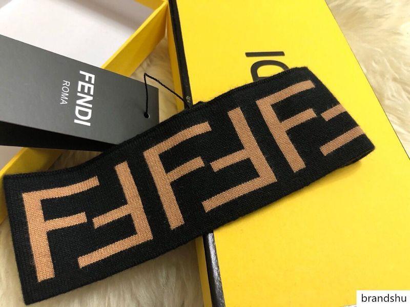 100% Brand New Wool ободки классический FF кашемир эластичный головной платок запястье дизайнер группа высокого качества полосы спорта теплее волос оптовой