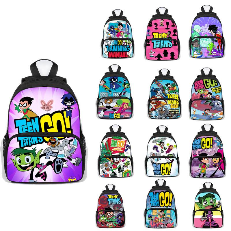 TeenTaitan Go-Schule-Rucksack Schüler Junge Mädchen Taschen Mode New Muster Angriff auf Titan Schoolbag Teens Täglich Rucksack Reisetasche