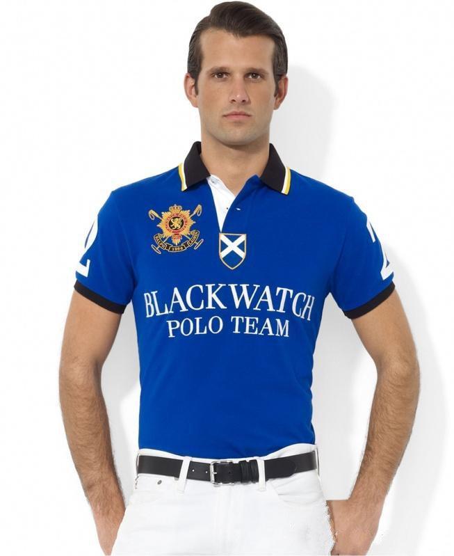 De nouveaux modèles d'explosion d'hiver en Haute Polo Hommes Luxe Polos manches courtes Homme Basic Top Coton Polos pour les garçons Marque Designer Polo