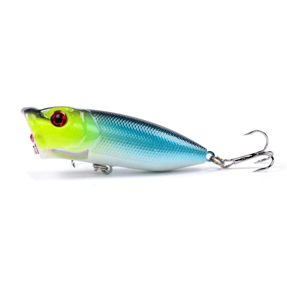 Hot Sale 1pcs Fishing Lure High Quality Topwater Popper Bait Bass Crankbait Wobblers Fishing Tackle 6.5cm/12g 6 Colors Available