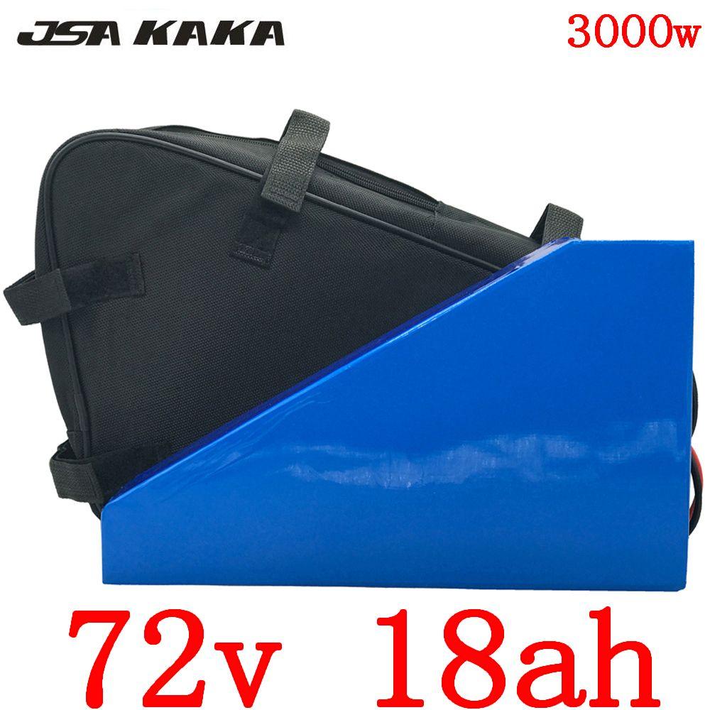 72V 18AH Lithium-Batterie 72V 18AH 72 elektrische Fahrradbatterie Roller 2000V 2500W 3000W elektrische Fahrradbatterie mit 5A Ladegerät