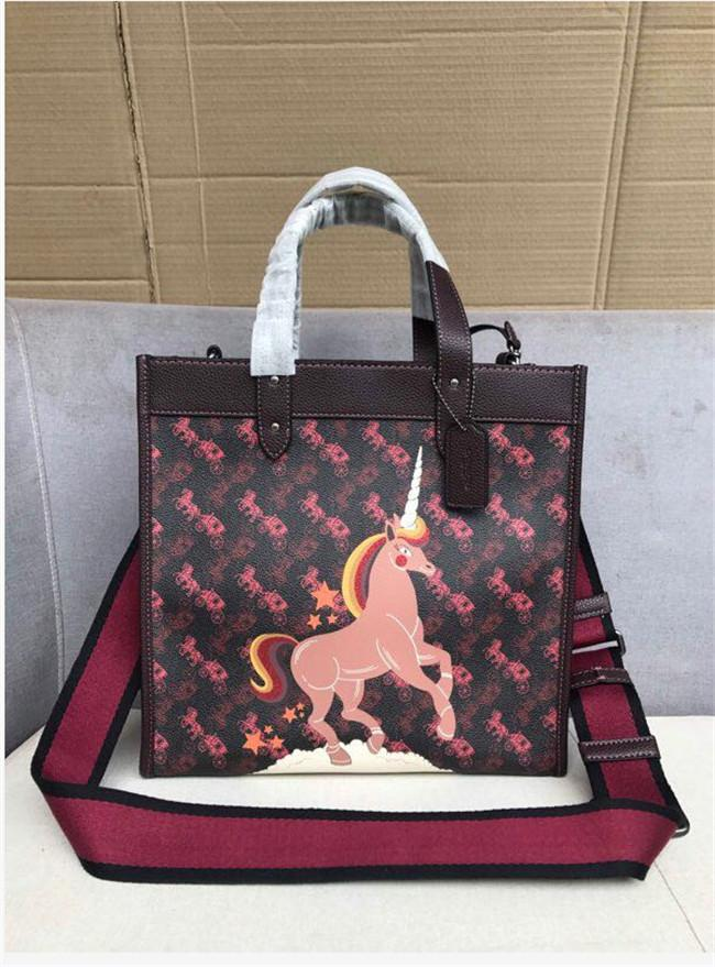 pony unicorn 2020 fashion early spring style tot bag carriage printed long shoulder strap tot 79365 size: 30/30/15.