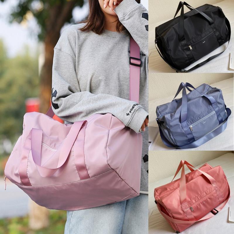 Fashion Trend delle donne Pure Color Oxford Secco separata bagnato Bag Yoga Bag sportiva pura impermeabile yoga sport fitness Hot