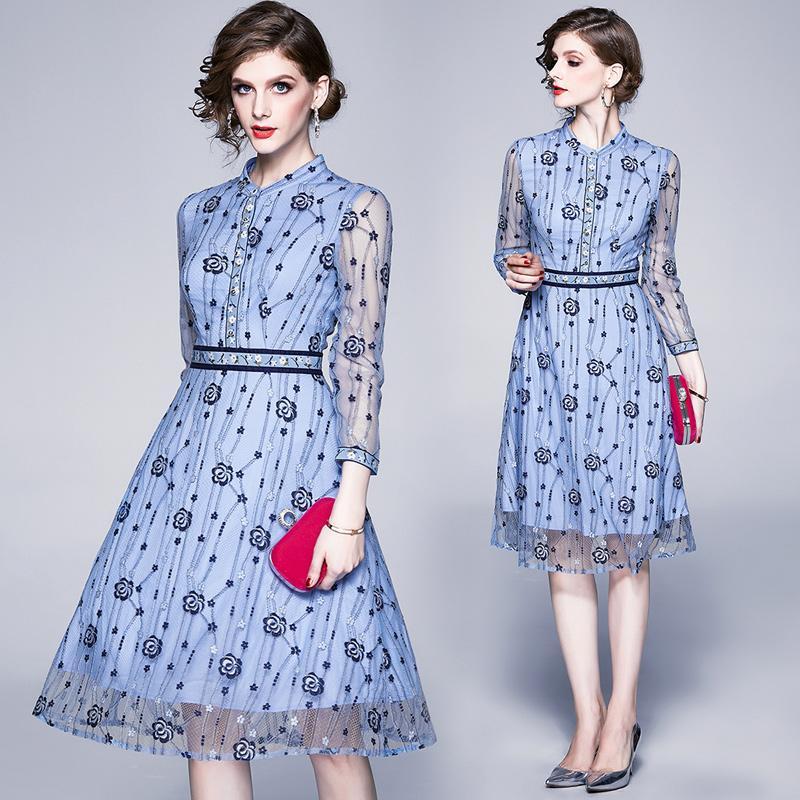 Temperament Lace Dress for Women 2020 New Spring Summer Dress OL Dress Fashion Elegant Lady Dresses
