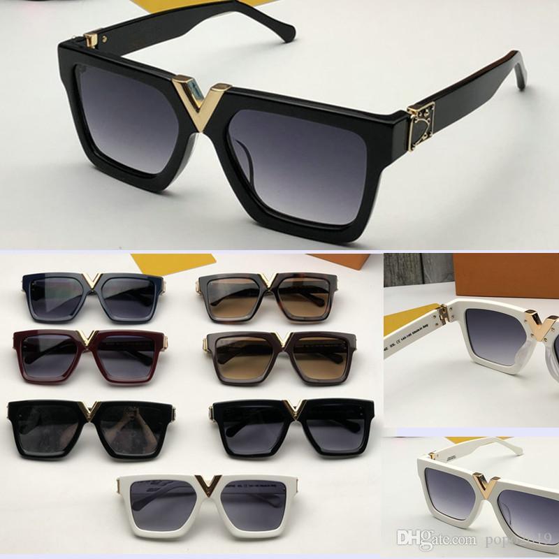 فاخر مليونير نظارات شمس للرجال الأزياء الشعبية الإطار الكامل خمر 2371 النظارات الشمسية أعلى جودة الرجال النظارات مكافحة UV400 عدسة مع صندوق