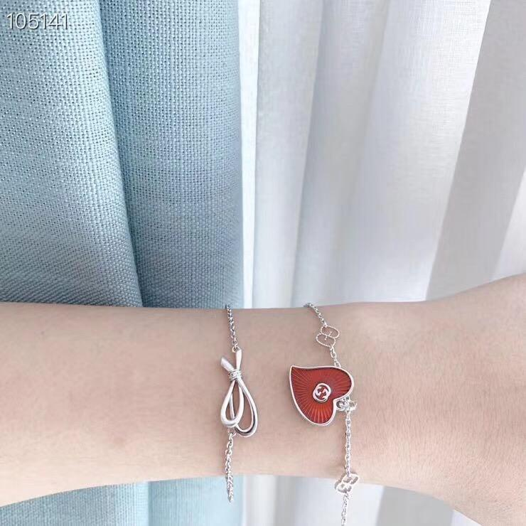 Manera- latón aguja de carta Material de la correa corazón rojo femenina temperamento dulce elegante única diaria corazón salvaje brazalete rojo