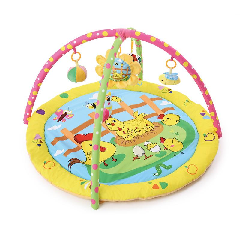 Jungle animals Chick Bunny Baby playmat gym bed kids rugs crawling mat kids carpet toys for toddler boys children plush doll toy
