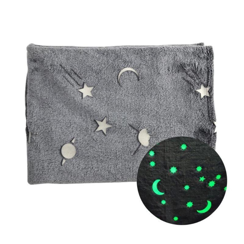 Три Размеры Одеяло для новорожденных Пледы Детские Throw Одеяло Super Soft Luminous фланель Теплый Nap крышки Wrap Infant Пеленальный