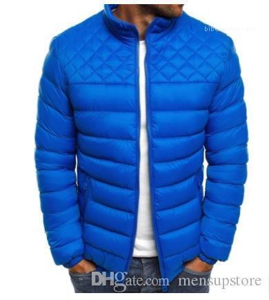 Collar Hombres Jacket Coats Mens Designer Solid Down Parkas Fashion Slim Fit Stand