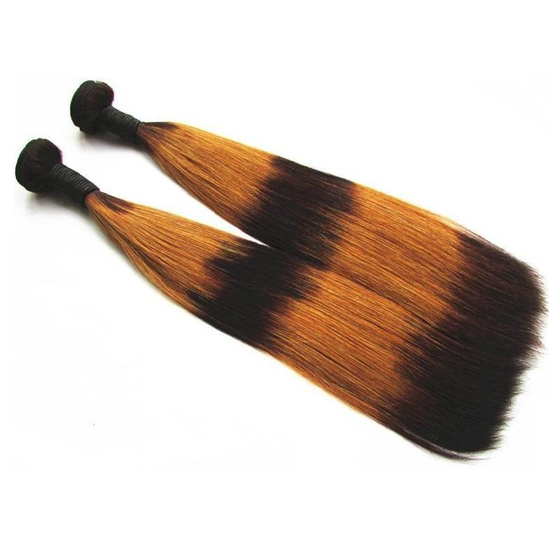 Beautysister Hair Products Clearance Double Drawn Brazilian Virgin Human Hair Bundles Weaves Straight 2 Pcs 200g lot Color#3/30/3/30/3