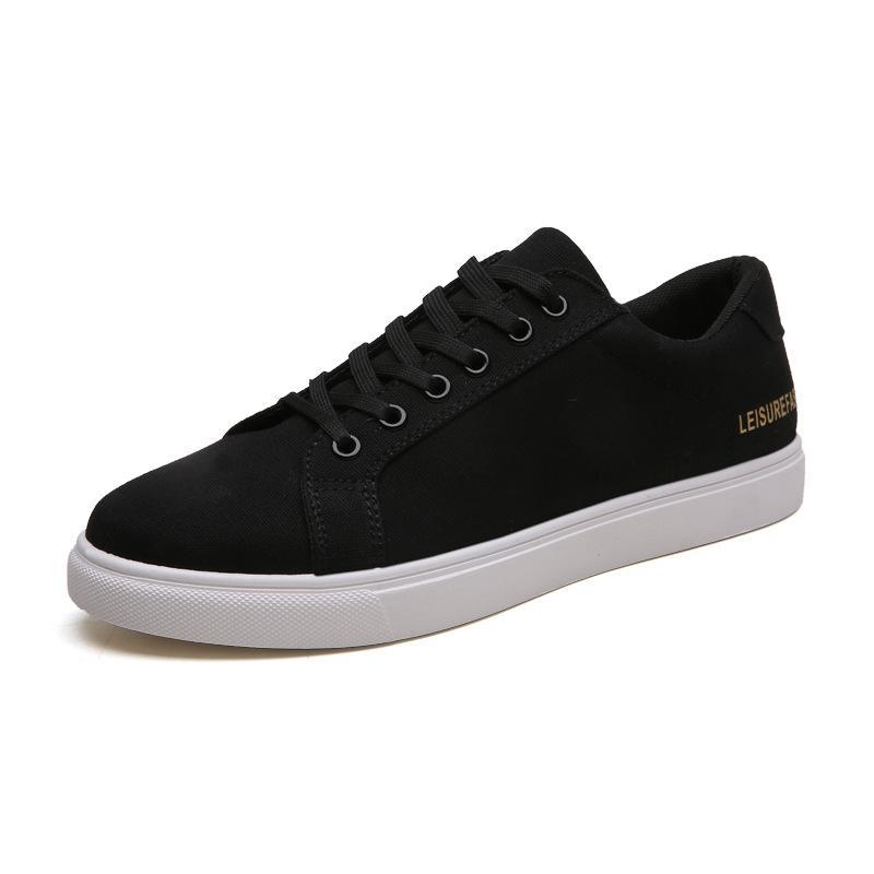Узелок Холст Спортивной одежды для мужчин Открытого Nonslip Комфорт Повседневных кроссовок Black Red White Shoes Men Sneaker Sapatilhas Омемы