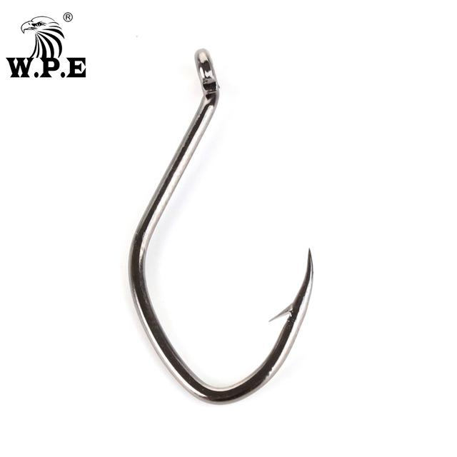Fishhooks W.P.E Brand 3packs/lot Catfish Hooks High-Carbon Steel 2/4/6/8/10/12# Sharp Barbed Fishing Hooks Fishing tackle