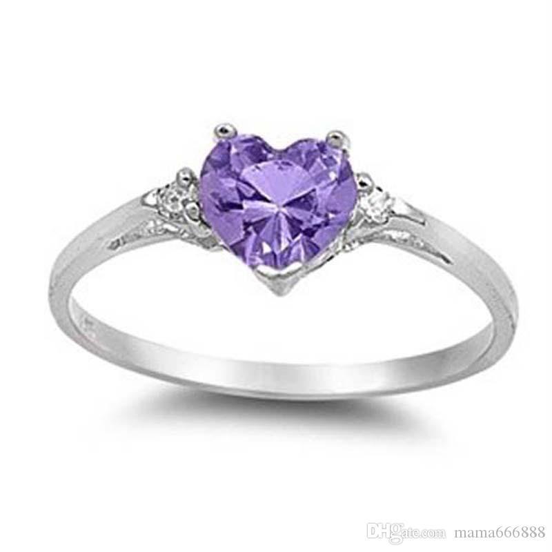 cuore della pesca dell'anello signora di figura di amore zircone coclea di rame con gioielli moda in argento società di nozze San Valentino