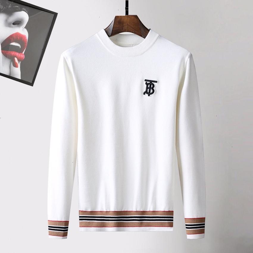 Mens Sweater Fashion Trends Asiático Tamanho M-3XLWSJ002 personalidade da moda Conforto palavras únicas Carta Imprimir camisola de malha