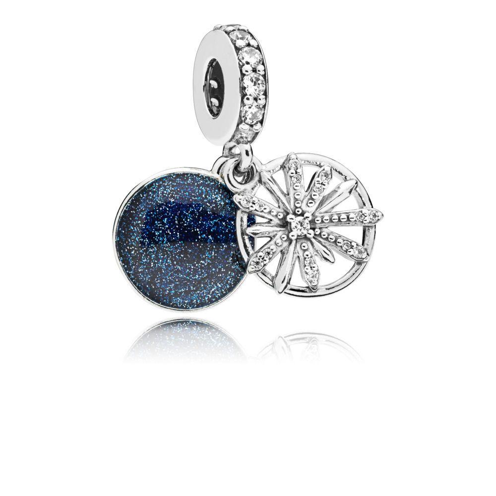 Usine de gros réel argent 925, plaqué Dazzling CZ Dangle Charms souhaité Perles européennes Fit Pandora Bijoux