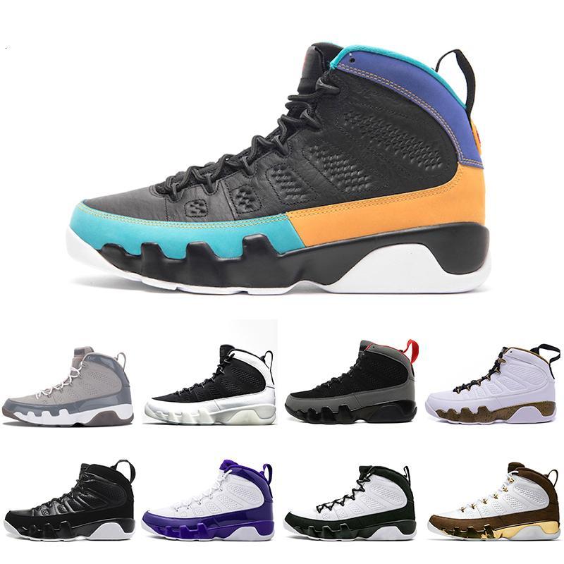 UNC 9 IX de Dream It Mens Basketball Chaussures Mop Melo OG de haute space jam Lakers noir blanc PE Sports de plein air Chaussures de sport