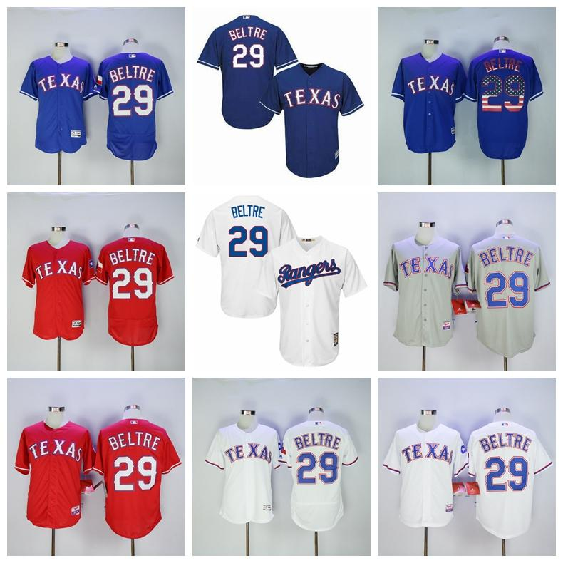 red white and blue baseball jersey