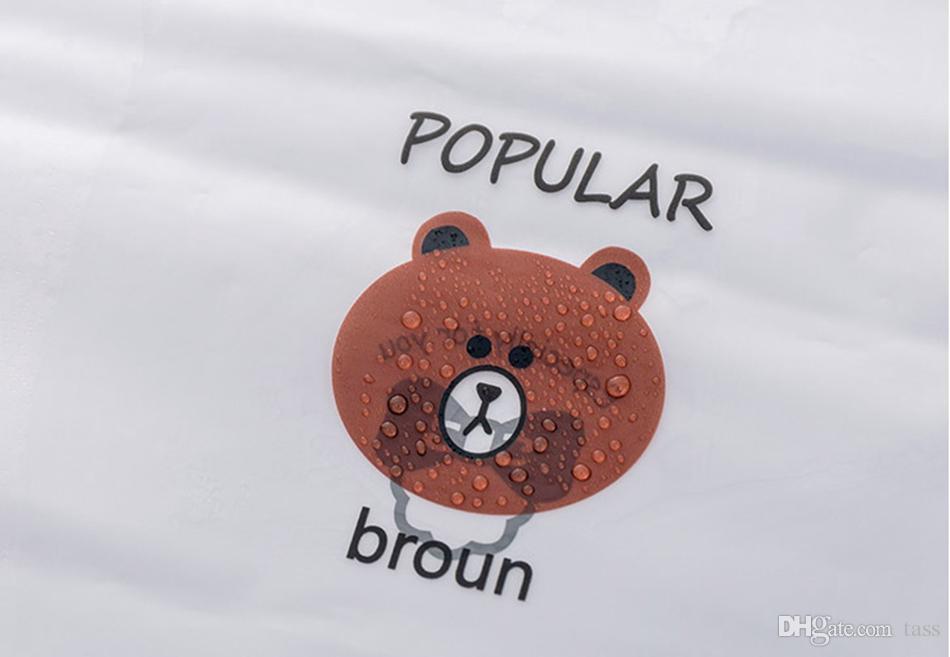 1e0e6e1739490a ... Brown Bear Transparent Cosmetic Bag Travel Makeup Case Women Zipper Make  Up Bath Organizer Storage Pouch ...
