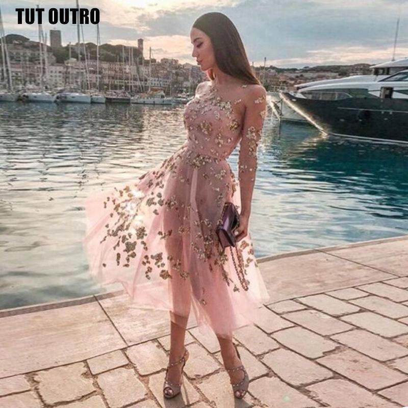 Frauen-Stickerei-Kleid-Maxi Kleid Frühling neue heiße reizvolle Durchlässiger Mesh-Tube Top Langarm