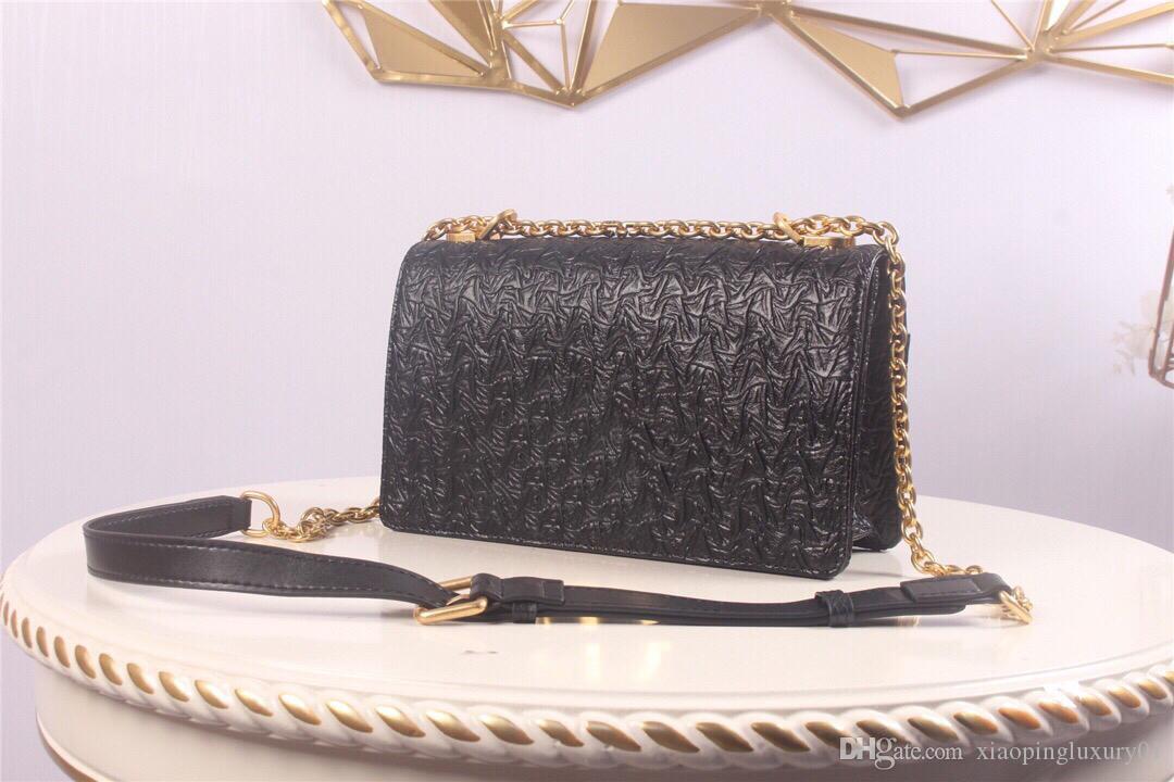 preto e branco de duas cores bezerro quadrado estilo genuíno com correntes de metal textura xadrez projeto senhora sacos de alta qualidade bolsa de ombro bolsa crossbody