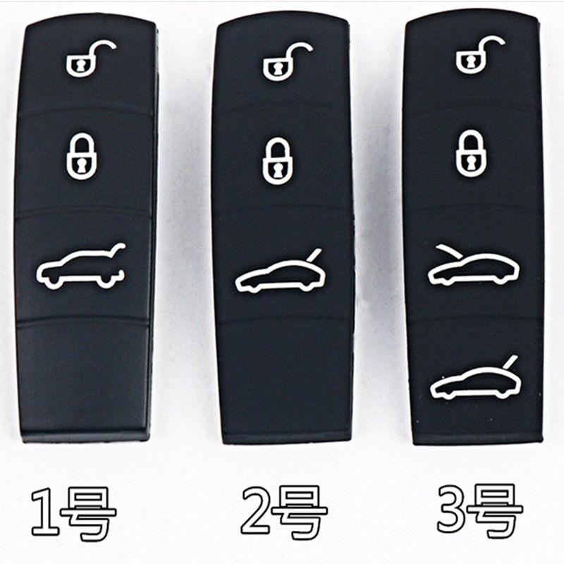 Reemplazo Botón de caucho de silicona Key Pad Coche teclados 3 4 botones para Porsche Cayenne Macan 911 Boxster Cayman Panamera