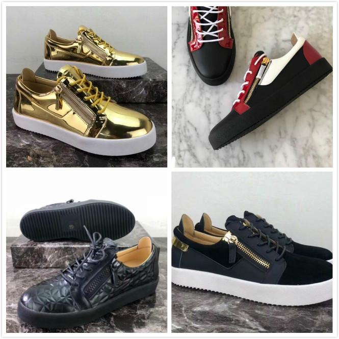 sapatos amantes Zipper design tamanho Big sapatilha Homens Mulheres Rivet Plataforma Patent Sapatos 35-46 couro genuíno Mais cores planas Casual Shoes