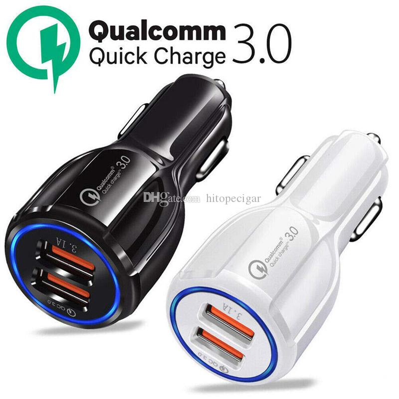 Car USB Charger Quick Charge 3.0 Mobile Phone Charger 2 Port USB Fast Car Charger For iPhone Samsung Huawei Tablet Car-Charger