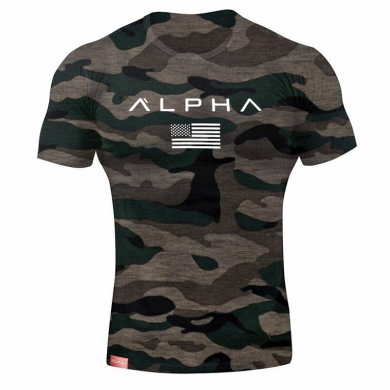2018 Mens Military Army T Shirt 2017 Men Star Loose Cotton T-shirt O-neck Alpha America Size Short Sleeve Tshirts T190627