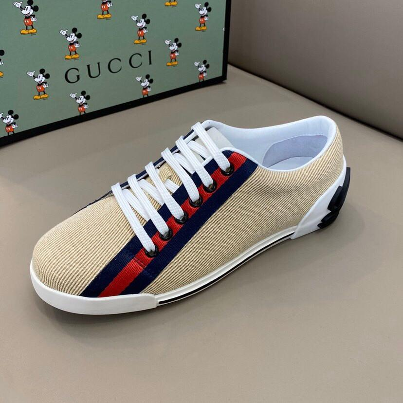 Best Designer Mens Womens Luxury Designer shoes ace blue red blue striped Genuine Leather Sneaker casual shoes white black size 38-44 RD582