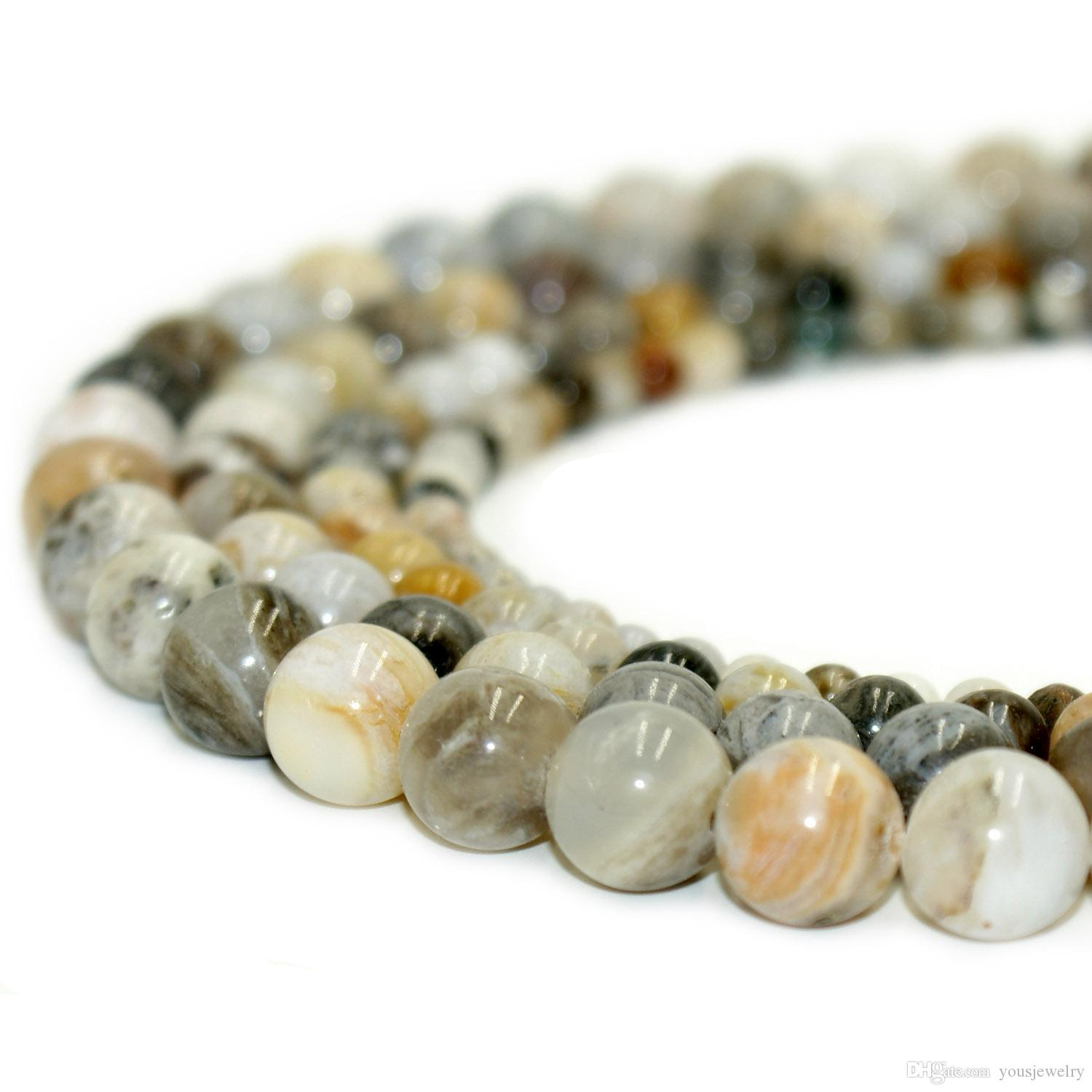 1 strand Natural Aquamarin Agat Stone Loose Spacer Beads Bracelet Jewelry Making