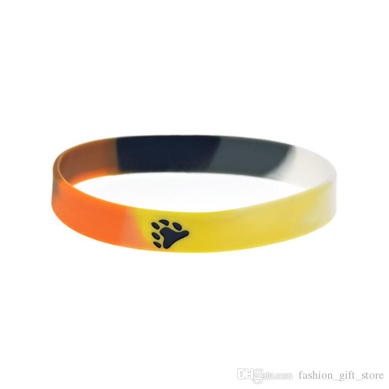 1PC Segment Color Fashion Logo Bear Pride Silicone Rubber Wristband Perfect To Use In Any Benefits Gift