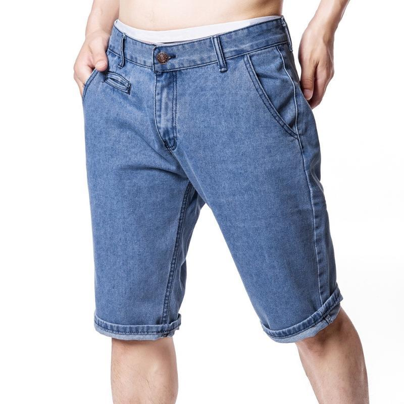 Men's brand new creative personality fashion business casual jeans and shorts men jeans black man pants