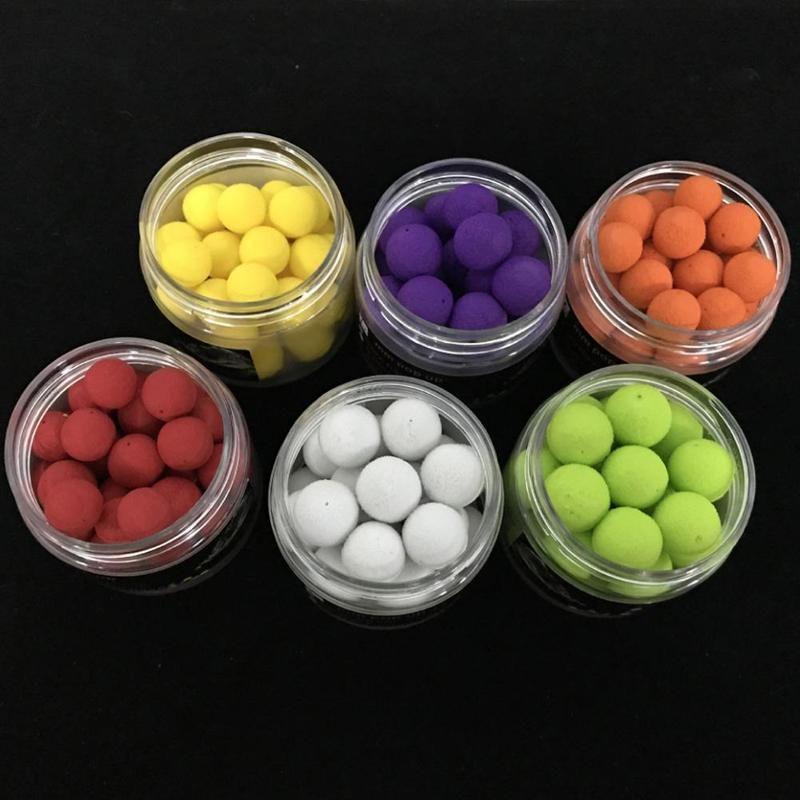 40pcs//box 10mm Smell Ups Carp Fishing Baits Boilies Floating Balls Beads Feeder