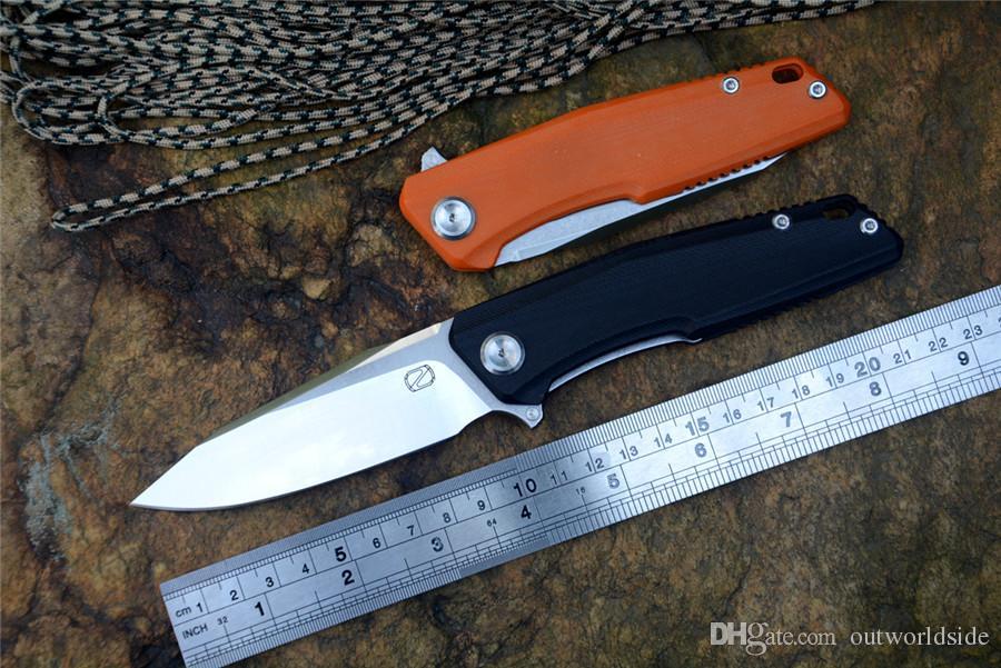 STEDEMON ZON Knives C02 flipper cuchillo plegable 440C hoja G10 mango acampar al aire libre cuchillo de bolsillo EDC herramientas para colecciones de regalos