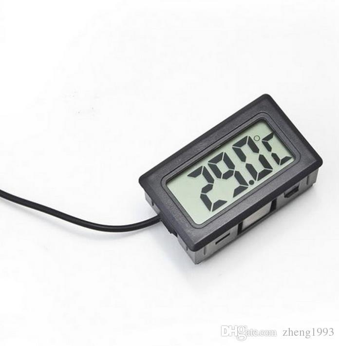 Hot vente numérique LCD Sonde Réfrigérateur Congélateur Thermomètre Thermograph pour Réfrigérateur -50 ~ 110 degrés avec la caisse d'emballage au détail