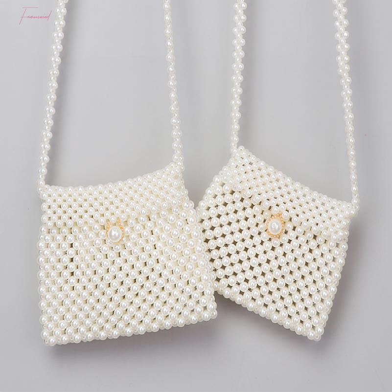 Handmade Beaded Dumplings Pearl Bag Woven Korean Version Of The Small Pockets Shoulder Diagonal Phone Female Clutch Coin Purse
